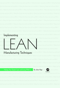 Show details for Implementing Lean Manufacturing Techniques